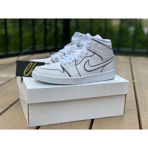 Air Jordan 1 Mid Iridescent White